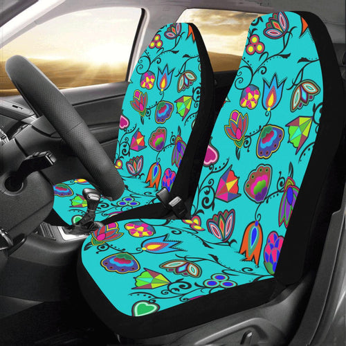 Indigenous Paisley - Sky Car Seat Covers (Set of 2) Car Seat Covers e-joyer