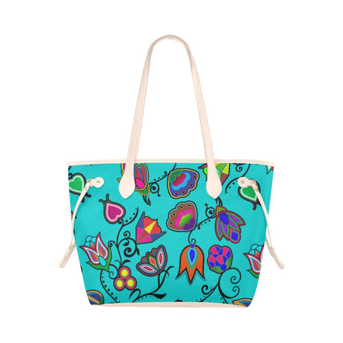 Indigenous Paisley - Sky Clover Canvas Tote Bag (Model 1661) Clover Canvas Tote Bag (1661) e-joyer