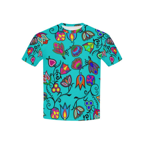 Indigenous Paisley - Sky Kids' All Over Print T-shirt (USA Size) (Model T40) All Over Print T-shirt for Kid (T40) e-joyer