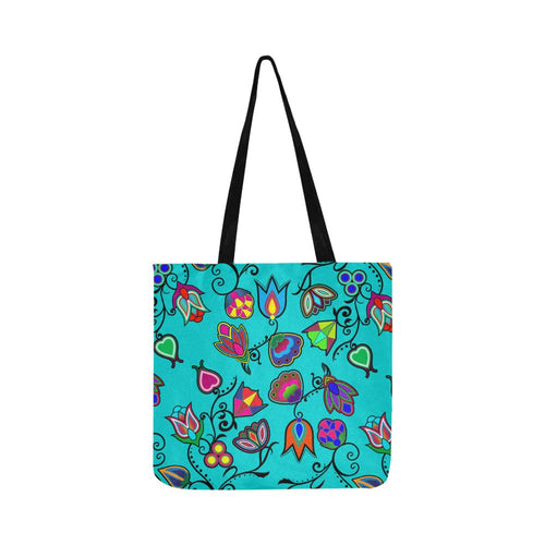 Indigenous Paisley - Sky Reusable Shopping Bag Model 1660 (Two sides) Shopping Tote Bag (1660) e-joyer