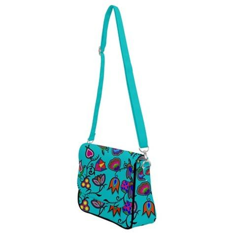 Indigenous Paisley Sky Shoulder Bag with Back Zipper 49 Dzine