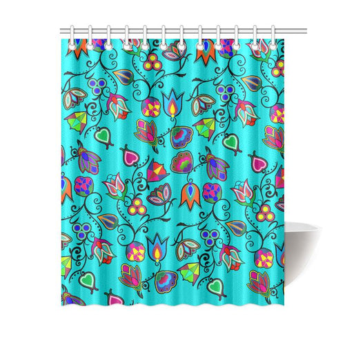 Indigenous Paisley - Sky Shower Curtain 60
