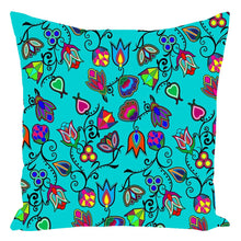 Indigenous Paisley - Sky Throw Pillows 49 Dzine With Zipper Spun Polyester 16x16 inch