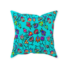 Indigenous Paisley - Sky Throw Pillows 49 Dzine Without Zipper Spun Polyester 16x16 inch