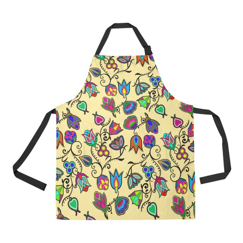 Indigenous Paisley Vanilla All Over Print Apron All Over Print Apron e-joyer