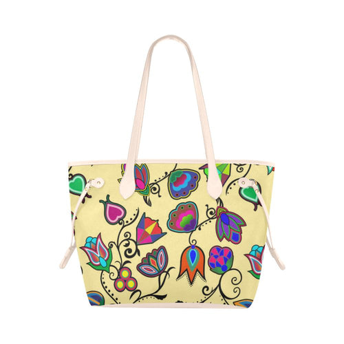 Indigenous Paisley - Vanilla Clover Canvas Tote Bag (Model 1661) Clover Canvas Tote Bag (1661) e-joyer