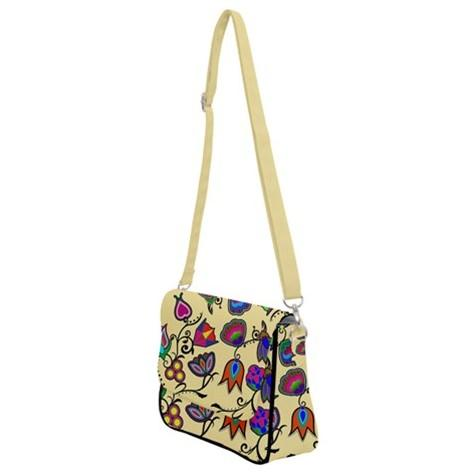 Indigenous Paisley Vanilla Shoulder Bag with Back Zipper 49 Dzine