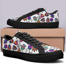 Indigenous Paisley White Aapisi Low Top Canvas Shoes Black Sole 49 Dzine