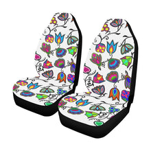 Indigenous Paisley - White Car Seat Covers (Set of 2) Car Seat Covers e-joyer