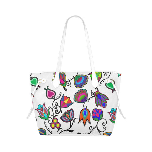 Indigenous Paisley - White Clover Canvas Tote Bag (Model 1661) Clover Canvas Tote Bag (1661) e-joyer