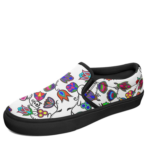 Indigenous Paisley White Otoyimm Canvas Slip On Shoes 49 Dzine