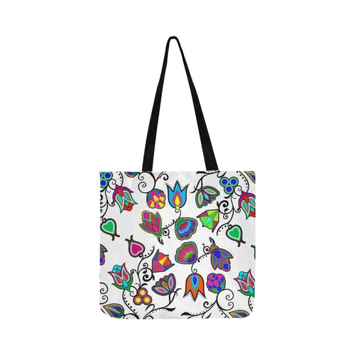 Indigenous Paisley - White Reusable Shopping Bag Model 1660 (Two sides) Shopping Tote Bag (1660) e-joyer