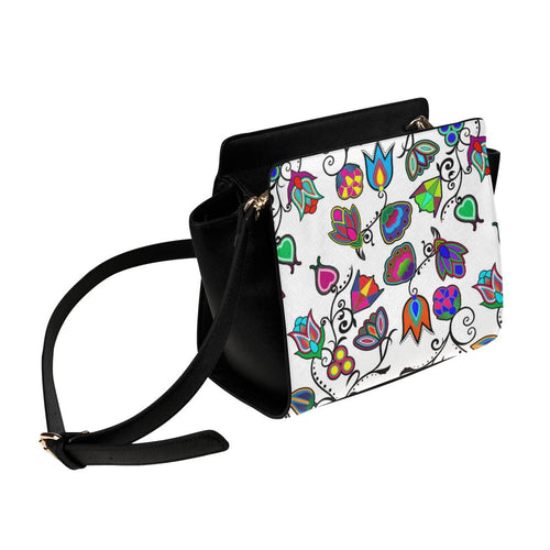 Indigenous Paisley - White Satchel Bag (Model 1635) Satchel Bag (1635) e-joyer