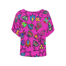 Indigenous Paisley Women's Batwing-Sleeved Blouse T shirt (Model T44) Women's Batwing-Sleeved Blouse T shirt (T44) e-joyer