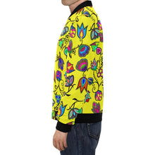 Indigenous Paisley - Yellow All Over Print Bomber Jacket for Men/Large Size (Model H19) All Over Print Bomber Jacket for Men/Large (H19) e-joyer