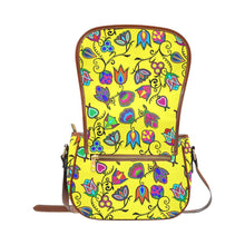 Indigenous Paisley - Yellow Saddle Bag/Large (Model 1649) Saddle Bag/Large e-joyer