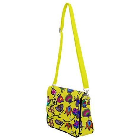 Indigenous Paisley Yellow Shoulder Bag with Back Zipper 49 Dzine