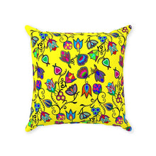 Indigenous Paisley - Yellow Throw Pillows 49 Dzine With Zipper Poly Twill 14x14 inch