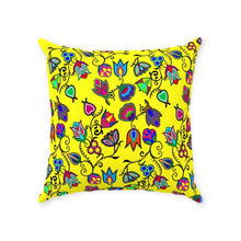 Indigenous Paisley - Yellow Throw Pillows 49 Dzine With Zipper Poly Twill 18x18 inch