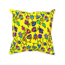 Indigenous Paisley - Yellow Throw Pillows 49 Dzine With Zipper Spun Polyester 14x14 inch