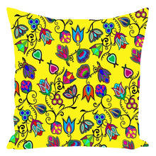 Indigenous Paisley - Yellow Throw Pillows 49 Dzine With Zipper Spun Polyester 16x16 inch