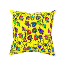 Indigenous Paisley - Yellow Throw Pillows 49 Dzine Without Zipper Spun Polyester 14x14 inch