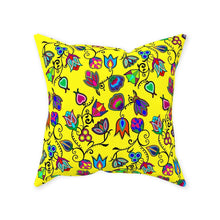 Indigenous Paisley - Yellow Throw Pillows 49 Dzine Without Zipper Spun Polyester 16x16 inch
