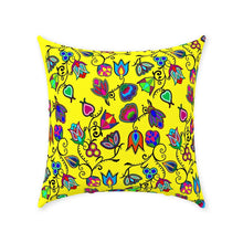 Indigenous Paisley - Yellow Throw Pillows 49 Dzine Without Zipper Spun Polyester 18x18 inch