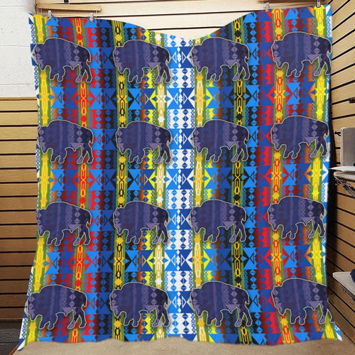 Inside the Council Lodge Buffalos Quilt 70
