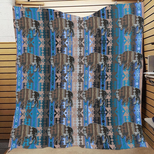 Inside the Paint Clan Lodge Buffalos Quilt 70