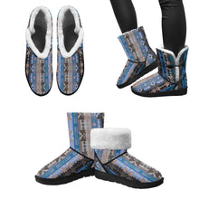 Inside the Paint Clan Lodge Unisex Single Button Snow Boots (Model 051) Unisex Single Button Snow Boots (051) e-joyer