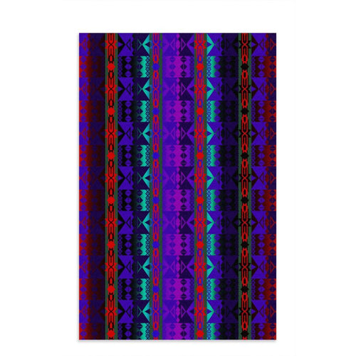 Inside the Warrior's Society Lodge Dish Towel 49 Dzine 16x25 inch