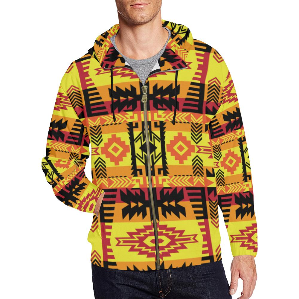 Journey of Generations All Over Print Full Zip Hoodie for Men (Model H14) All Over Print Full Zip Hoodie for Men (H14) e-joyer