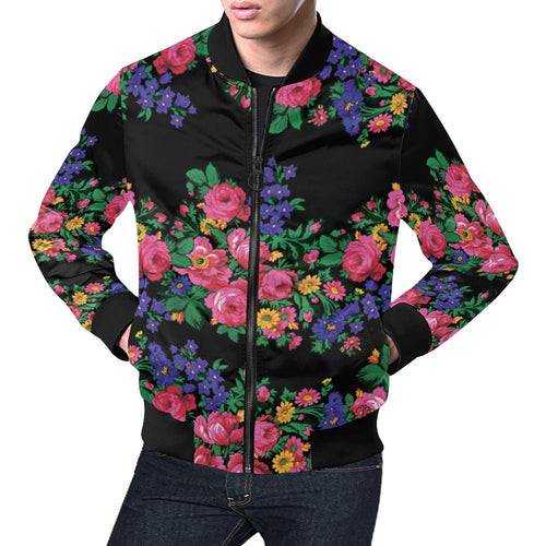 Kokum's Revenge-Black All Over Print Bomber Jacket for Men/Large Size (Model H19) All Over Print Bomber Jacket for Men/Large (H19) e-joyer