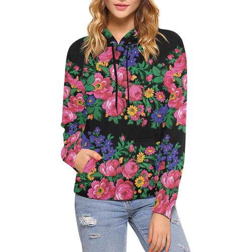 Kokum's Revenge-Black All Over Print Hoodie for Women (USA Size) (Model H13) All Over Print Hoodie for Women (H13) e-joyer