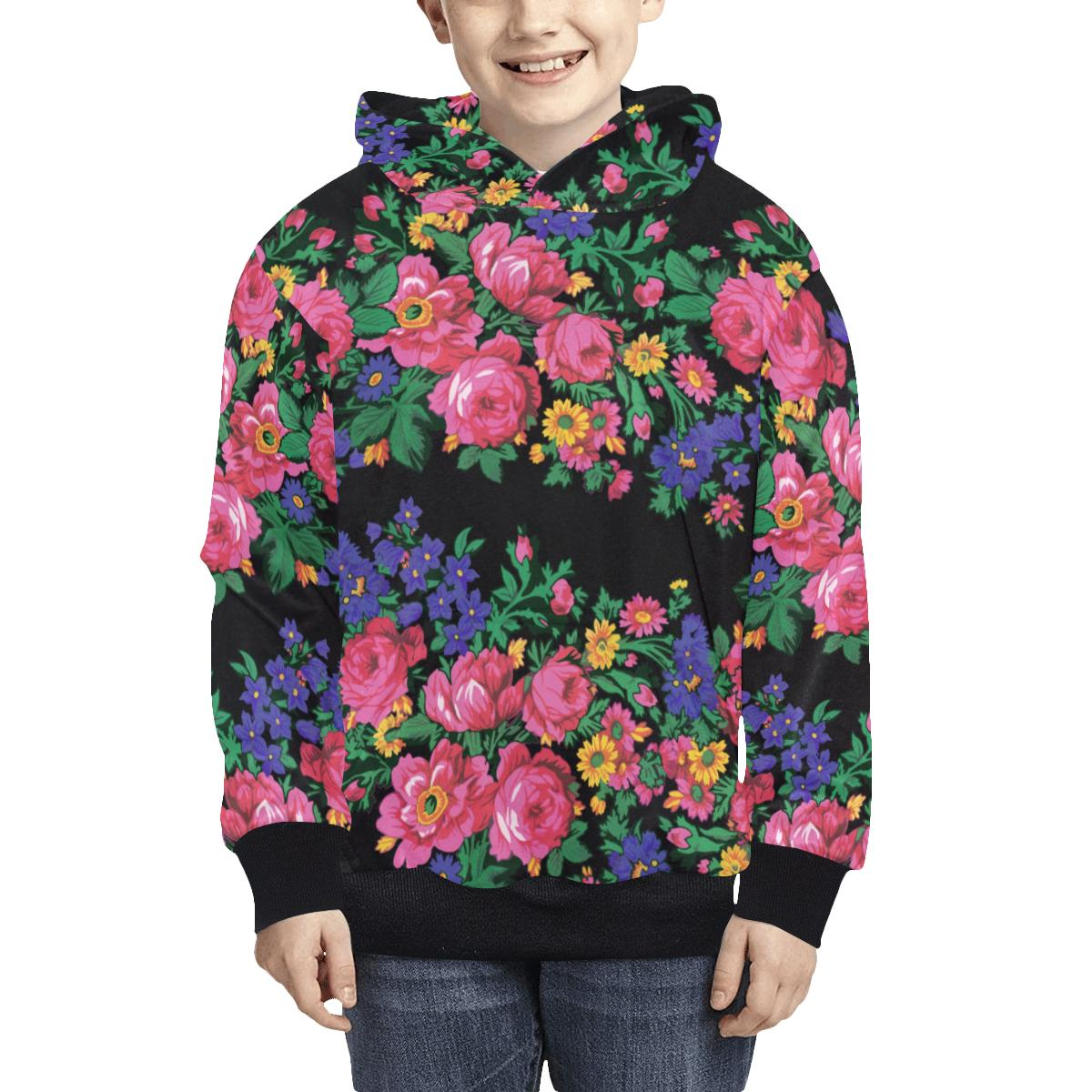 Kokum's Revenge Black Kids' All Over Print Hoodie (Model H38) Kids' AOP Hoodie (H38) e-joyer