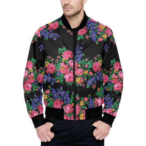 Kokum's Revenge-Black Unisex Heavy Bomber Jacket with Quilted Lining All Over Print Quilted Jacket for Men (H33) e-joyer