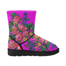 Kokum's Revenge Blush Unisex Single Button Snow Boots (Model 051) Unisex Single Button Snow Boots (051) e-joyer