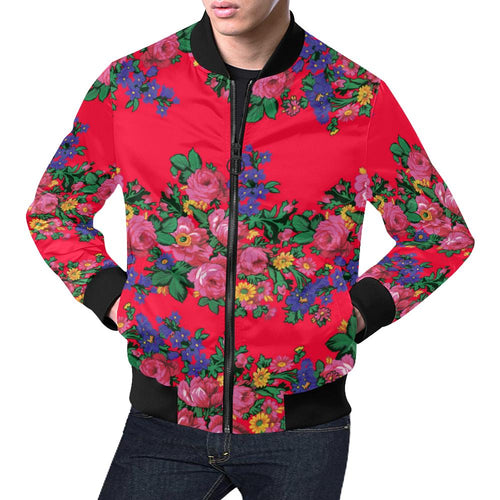 Kokum's Revenge- Dahlia All Over Print Bomber Jacket for Men/Large Size (Model H19) All Over Print Bomber Jacket for Men/Large (H19) e-joyer