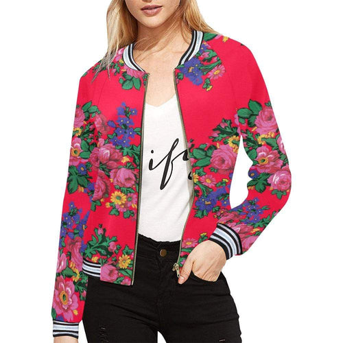 Kokum's Revenge- Dahlia All Over Print Bomber Jacket for Women (Model H21) All Over Print Bomber Jacket for Women (H21) e-joyer