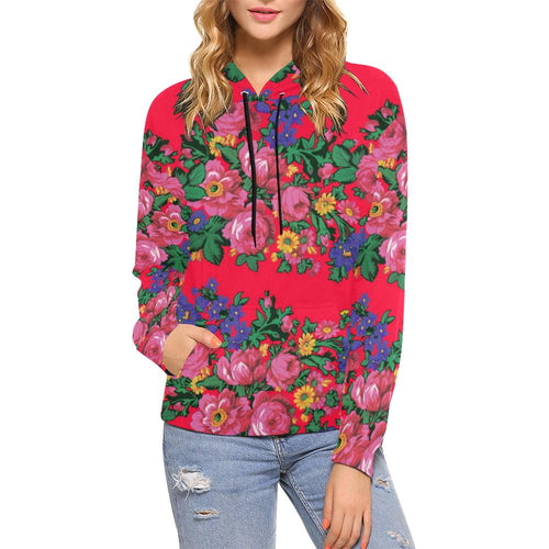 Kokum's Revenge- Dahlia All Over Print Hoodie for Women (USA Size) (Model H13) All Over Print Hoodie for Women (H13) e-joyer