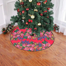 "Kokum's Revenge- Dahlia Christmas Tree Skirt 47"" x 47"" Christmas Tree Skirt e-joyer"