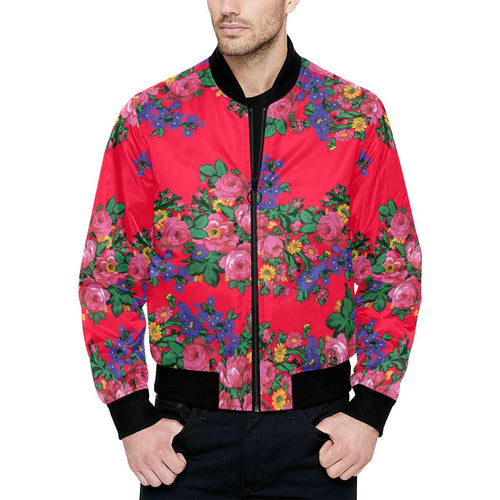 Kokum's Revenge- Dahlia Unisex Heavy Bomber Jacket with Quilted Lining All Over Print Quilted Jacket for Men (H33) e-joyer