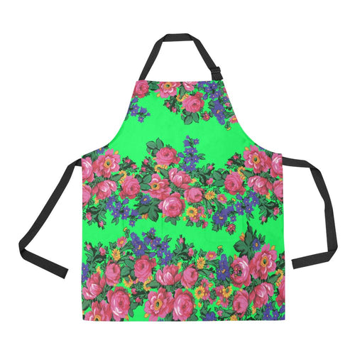 Kokum's Revenge Green All Over Print Apron All Over Print Apron e-joyer