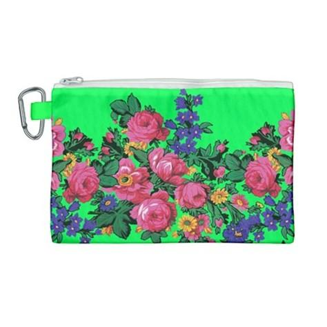 Kokum's Revenge Green Canvas Cosmetic Bag (Large) cosmetic-bags 49 Dzine