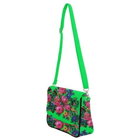 Kokum's Revenge Green Shoulder Bag with Back Zipper 49 Dzine