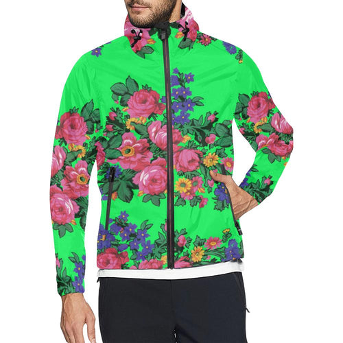 Kokum's Revenge Green Unisex All Over Print Windbreaker (Model H23) All Over Print Windbreaker for Men (H23) e-joyer