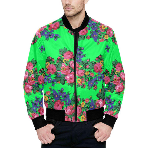 Kokum's Revenge Green Unisex Heavy Bomber Jacket with Quilted Lining All Over Print Quilted Jacket for Men (H33) e-joyer