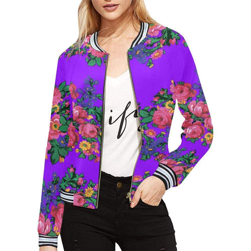 Kokum's Revenge-Lilac All Over Print Bomber Jacket for Women (Model H21) All Over Print Bomber Jacket for Women (H21) e-joyer