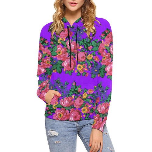 Kokum's Revenge-Lilac All Over Print Hoodie for Women (USA Size) (Model H13) All Over Print Hoodie for Women (H13) e-joyer